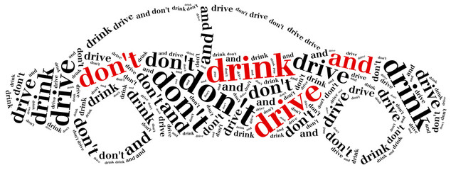 Graphic design related to driving after alcohol