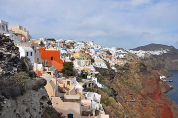 oia auf santorin, Griechenland