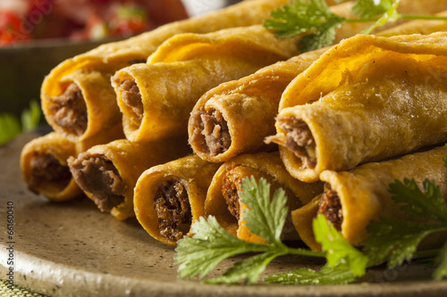 Homemade Mexican Beef Taquitos Plakát
