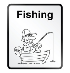 Fishing Information Sign