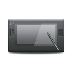 Graphic tablet icon .