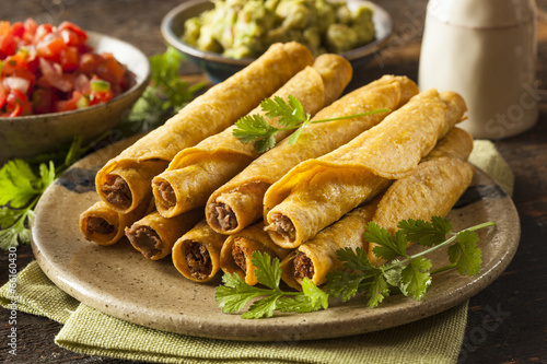 Poster Homemade Mexican Beef Taquitos