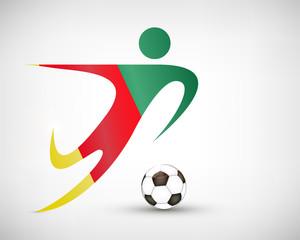 Silhouette Fußball Kamerun