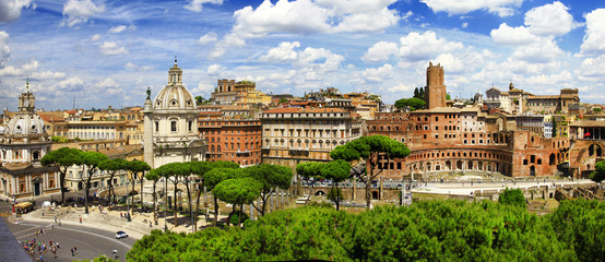 antique Rome -Trajan's Market panorama