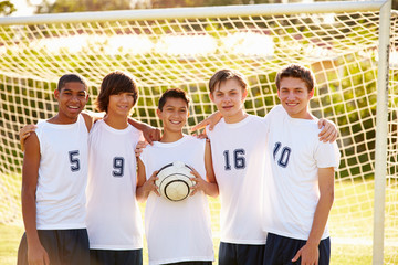 Members Of Male High School Soccer Team
