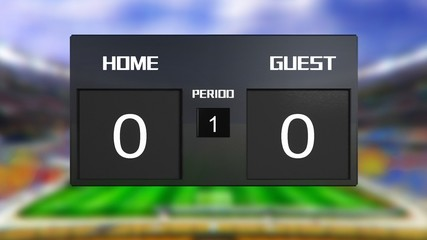 soccer match scoreboard Draws 0 & 0