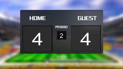 soccer match scoreboard Draws 4 & 4