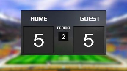 soccer match scoreboard Draws 5 & 5