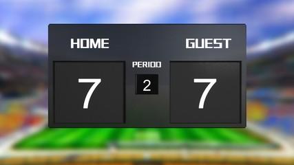 soccer match scoreboard Draws 7 & 7