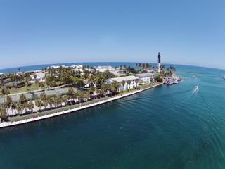 Coastal lighthouse in Pompano Beach, Florida