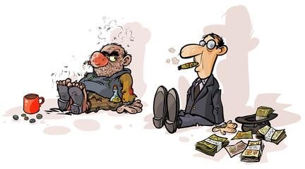 Poor beggar Rich beggar