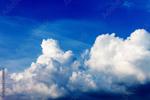 blue sky with clouds