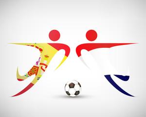 Fußball - Spanien gegen Holland