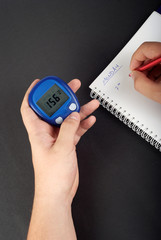 Diabetic blood test