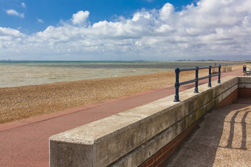 ledge, beach, rocks, beach view English, Hythe