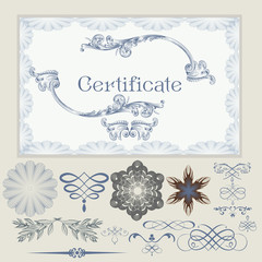 Collection of vector certificate elements