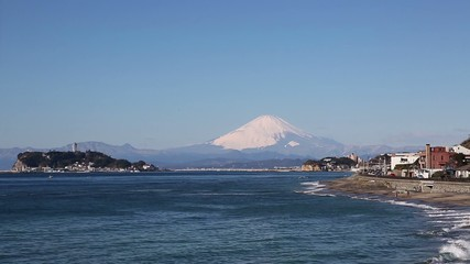 富士山と湘南江ノ島-8407