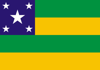State flag of Sergipe in Brazil