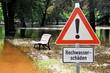Hochwasser in einem Park in Magdeburg