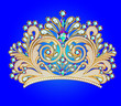 feminine decorative tiara crown with jewels