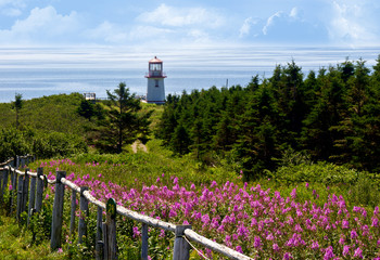 Gaspe Peninsula, Quebec, Canada During Summer Time