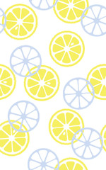 Seamless pattern of lemons