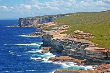 Rugged coast of Royal National Park, Sydney Australia