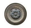 Truck wheel (with clipping path) isolated on white background