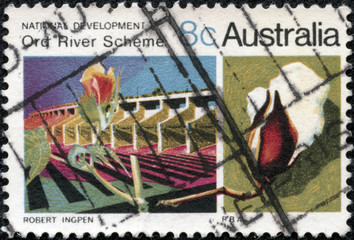stamp from Australia illustrating National Development Projects