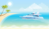 Lluxury yacht on the background of the sea - 66168699