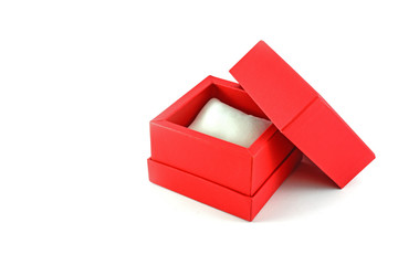 red watch gift box on white background