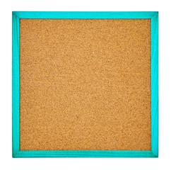 正方形のコルクボード 青色