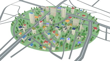 発展する街の様子