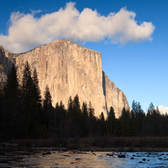 El Capitan at Sunset in Yosemite