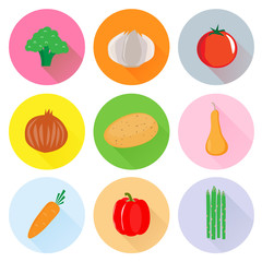 Heart healthy vegetable vector