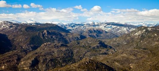 Sierra Nevada Mountains from a Peak in Yosemite