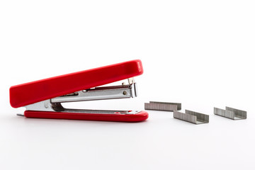 Red Stapler with staples wires