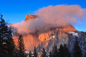 Alpenglow on Yosemite's Half Dome