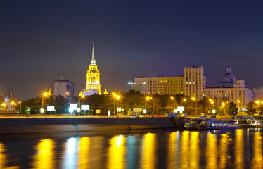 View of Moscow  in night
