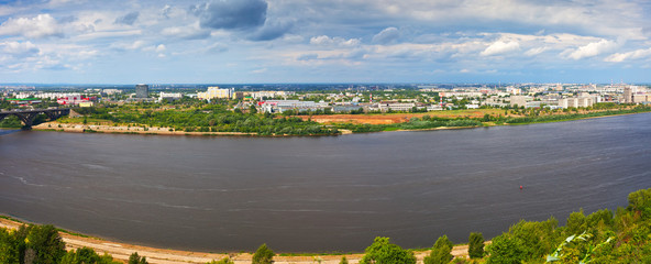 Summer view  of Nizhny Novgorod. Russia