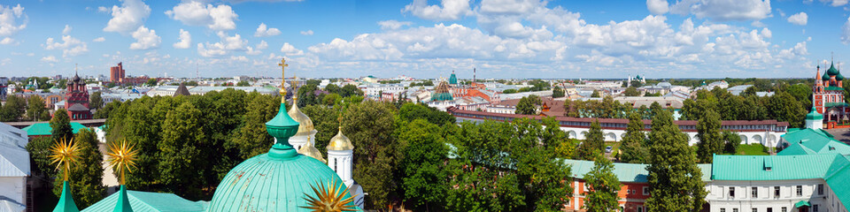 panoramic view of old Yaroslavl. Russia