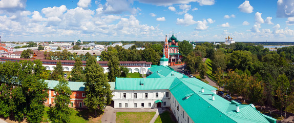 panoramic view of old district of Yaroslavl
