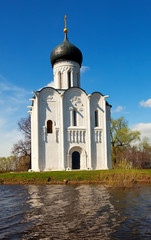 Church of  Intercession on River Nerl in flood