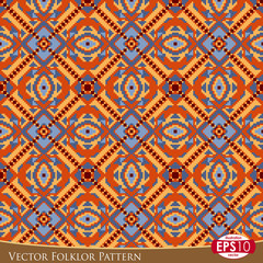 Vector Folklor Pattern O