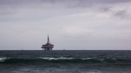 Offshore Oil Rig Time Lapse Video