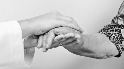 old wrinkled hand