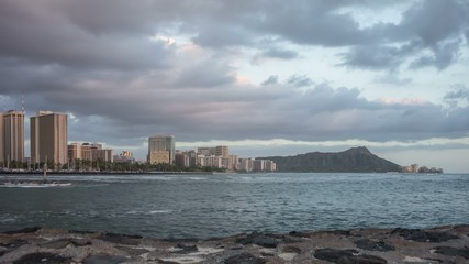 Waikiki Beach & Diamond Head Time Lapse Video