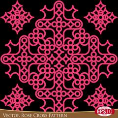 Vector Rose Cross Pattern