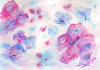 Butterflies.Watercolors