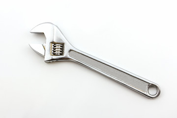 Silver Metal Monkey Wrench.